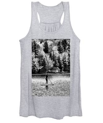 Paddleboarding On Old Forge Pond Women's Tank Top
