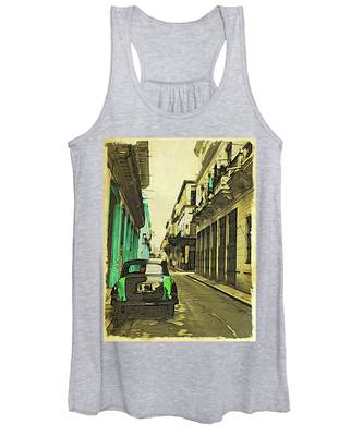 Parked Greens Women's Tank Top by Alice Gipson