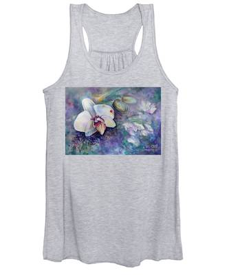 Phalaenopsis Orchid With Hyacinth Background Women's Tank Top