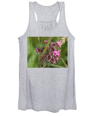 Women's Tank Top featuring the photograph Pink Campion In August by Rasma Bertz