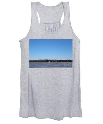 Poconos, The Lake In January Women's Tank Top