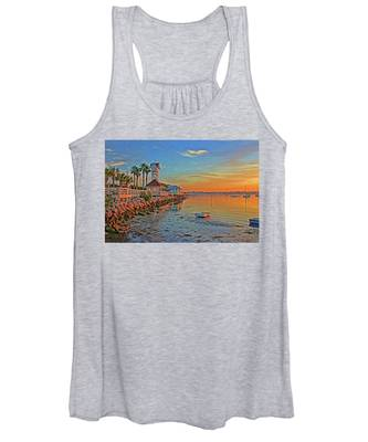 Sunrise At The Pier Women's Tank Top