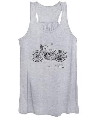 Vintage Harley-davidson Motorcycle 1928 Patent Artwork Women's Tank Top