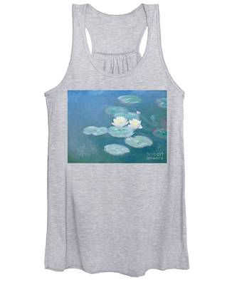 Waterlilies Evening Women's Tank Top