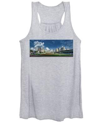 Bbt Baseball Charlotte Nc Knights Baseball Stadium And City Skyl Women's Tank Top