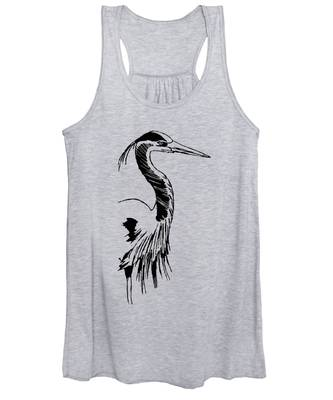 Blue Heron On Waves Women's Tank Top