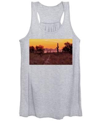 Desert Sunrise Trail Women's Tank Top by Judy Kennedy