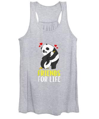 Womens Penguin Cute Animal Pocket Print Vest Tank Top