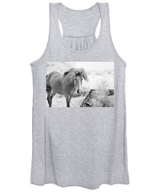 Horse In Infrared Women's Tank Top