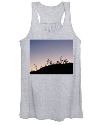 Women's Tank Top featuring the photograph Libra Twilight Crescent by Judy Kennedy