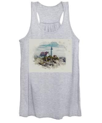 Portland Head Lighthouse Cape Elizabeth Maine Women's Tank Top