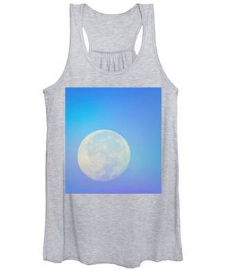 Women's Tank Top featuring the photograph Taurus Almost Full Moon Blend by Judy Kennedy