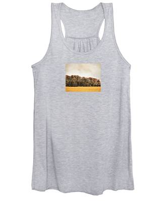Three Crows And Golden Field Women's Tank Top