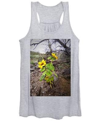 Women's Tank Top featuring the photograph Wild Desert Sunflower by Judy Kennedy