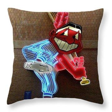 Chief Wahoo Throw Pillow