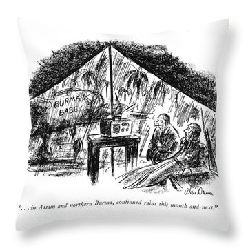 . . . In Assam And Northern Burma Throw Pillow