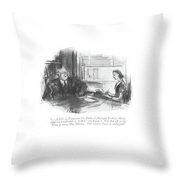. . . L.s.u. 7 Throw Pillow
