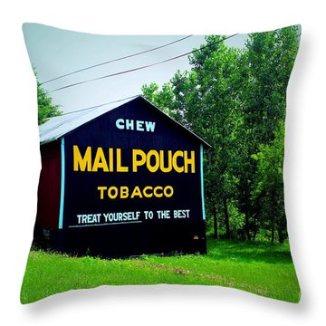 Mail Pouch Throw Pillow