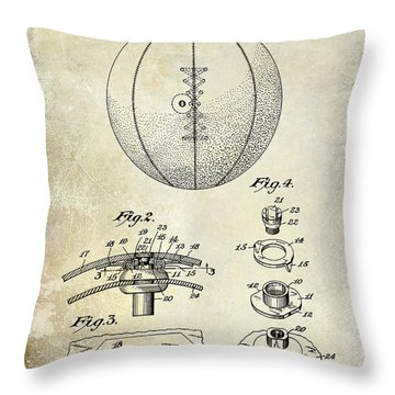 1927 Basketball Patent Drawing Throw Pillow by Jon Neidert