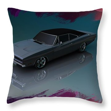 1969 Dodge Charger Throw Pillow by Louis Ferreira