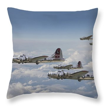 381st Group Outbound Throw Pillow by Pat Speirs