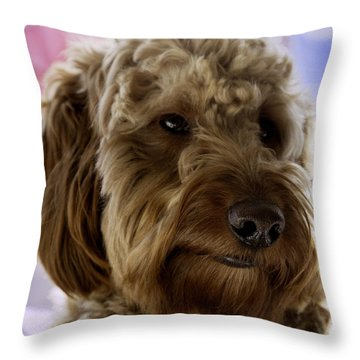 A Doodle Face Throw Pillow by Madeline Ellis