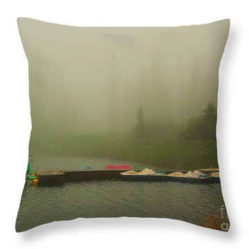 A Misty Day Throw Pillow by Steven Reed