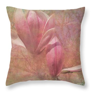 A Peek Of Spring Throw Pillow by Arlene Carmel