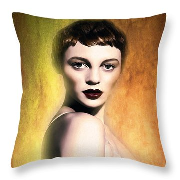 A Portrait Of Isabella Throw Pillow by Tyler Robbins