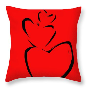 Throw Pillow featuring the painting  A Stack Of Hearts by Go Van Kampen