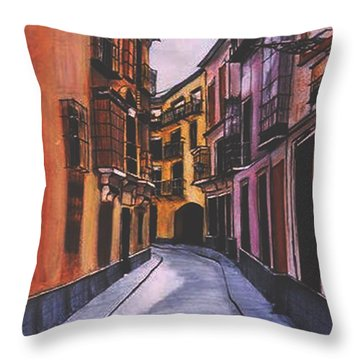 A Street In Seville Spain Throw Pillow