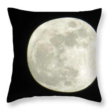 A Winter'sfullmoon Over Ga Throw Pillow