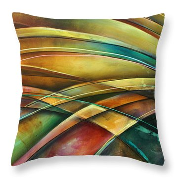 ' Abstract ' L1 Throw Pillow by Michael Lang