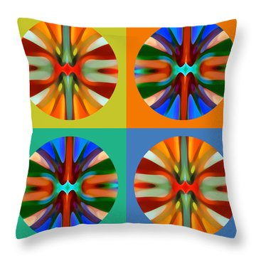 Abstract Circles And Squares 2 Throw Pillow by Amy Vangsgard