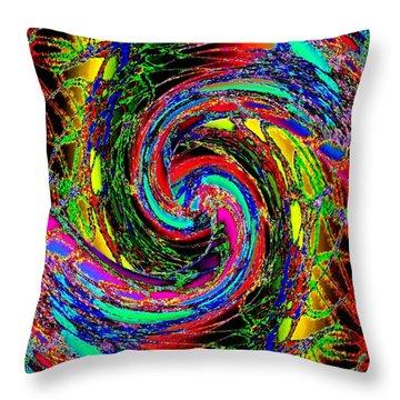 Abstract Fusion 215 Throw Pillow
