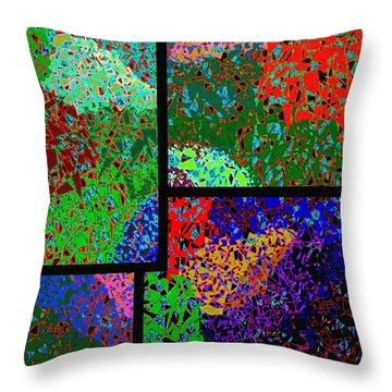 Abstract Fusion 86 Throw Pillow