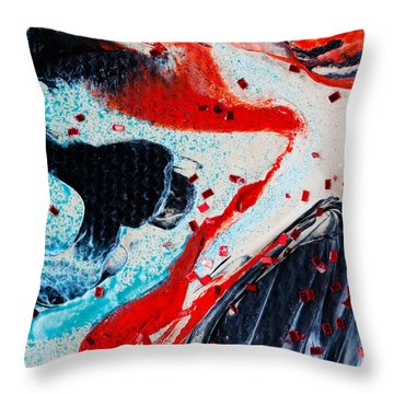 Abstract Original Artwork One Hundred Phoenixes Untitled Number Fifteen Throw Pillow