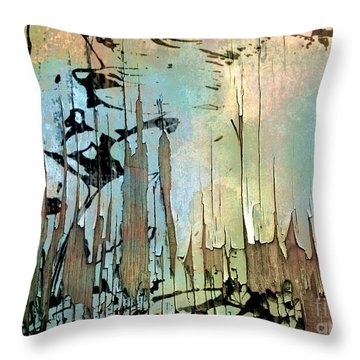 Abstract Woodlands  Throw Pillow