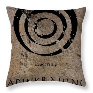 Adinkra Adinkrahene Throw Pillow