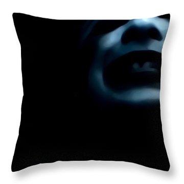 Agony I Wait Throw Pillow by Jessica Shelton