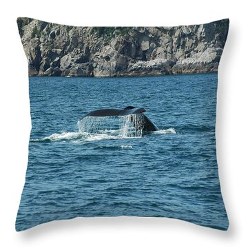Alaska Wildlife Throw Pillow