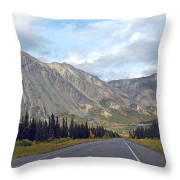 Throw Pillow featuring the photograph  Along The Parks Highway  by Dyle   Warren