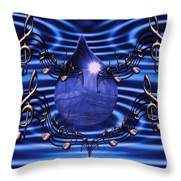 Angelic Sounds On The Waves Throw Pillow by Barbara St Jean