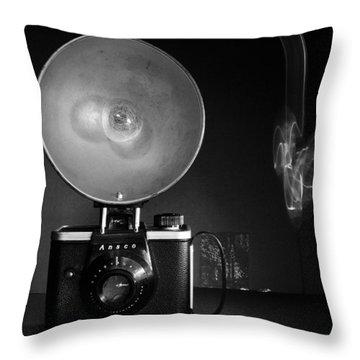 Ansco Camera Throw Pillow