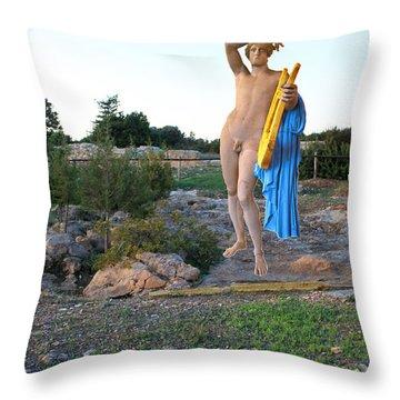 Apollo Circular Sacred Building Throw Pillow by Augusta Stylianou