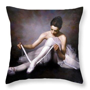 Ballerina 3 Throw Pillow