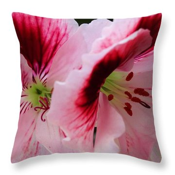 Ballet Of Floral Throw Pillow