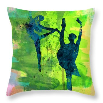 Ballet Watercolor 1 Throw Pillow