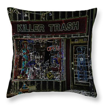 Baltimore Storefront Impression Throw Pillow