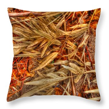 Bamboo Leaves Throw Pillow by Michelle Meenawong